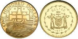 100 Dollar Belize (1981 - ) Gold