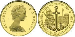 100 Dollar Canada Gold