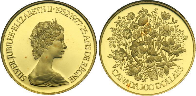100 Dollar 1977 Canada Gold Elizabeth Ii 1926 Prices