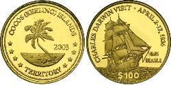 100 Dollar Cocos (Keeling) Islands Gold