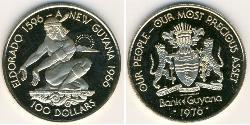 100 Dollar Guyana Gold