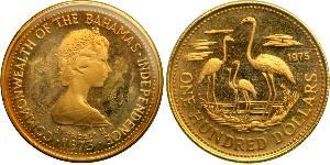 100 Dollar Bahamas Or Elizabeth II (1926-)