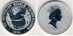 100 Dollar Australien (1939 - ) Platin