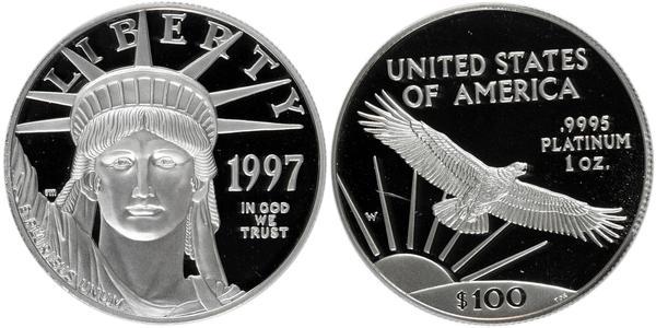 100 Dollar Vereinigten Staaten von Amerika (1776 - ) Platin