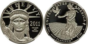 100 Dollar 美利堅合眾國 (1776 - ) Platinum