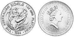100 Dollar Australia (1939 - ) Platinum Elizabeth II (1926-)