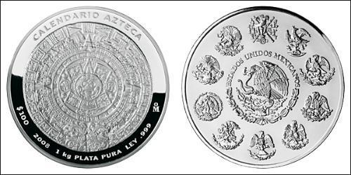 100 Dollar United Mexican States (1867 - ) Silver