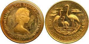 100 Dollaro Bahamas Oro Elisabetta II (1926-)