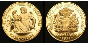 100 Dollaro Guyana Oro
