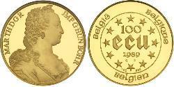 100 Ecu Bélgica Oro