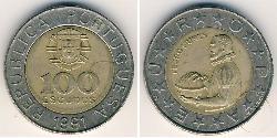 100 Escudo Portuguese Republic (1975 - ) Bimetal