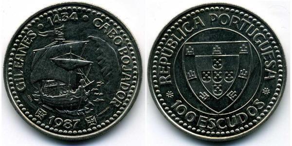 100 Escudo Portuguese Republic (1975 - ) Copper/Nickel