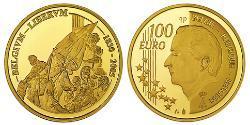 100 Euro Belgium Gold Albert II of Belgium