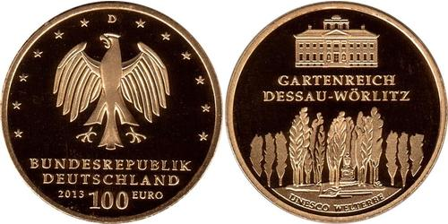 100 Euro Federal Republic of Germany (1990 - ) Gold