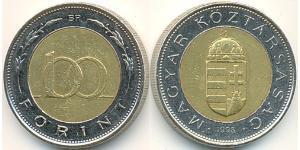100 Forint Hongrie (1989 - ) Acier/Laiton