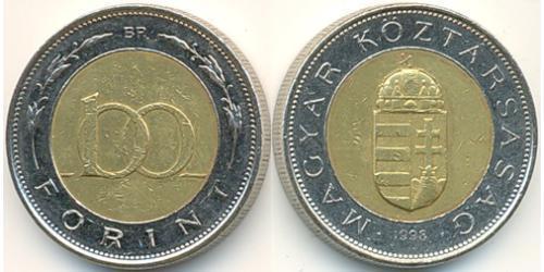 100 Forint Ungheria (1989 - ) Ottone/Acciaio