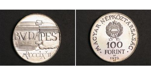 100 Forint República Popular de Hungría (1949 - 1989) Plata