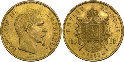 100 Franc 法蘭西第二帝國 (1852 - 1870) 金 拿破仑三世