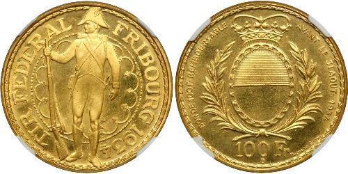 100 Franc 瑞士 金