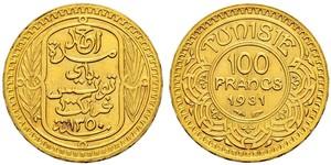100 Franc Tunisia 金