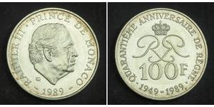 100 Franc Monaco 銀