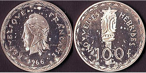 100 Franc  銀