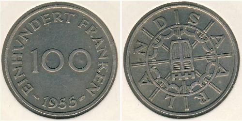100 Franc  銅/镍