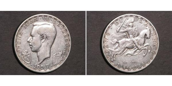 100 Franc Luxembourg (pays) Argent