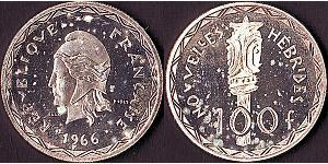 100 Franc  Argento