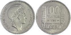 100 Franc Algeria Copper/Nickel