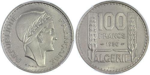 100 Franc Algeria Copper/Nickel