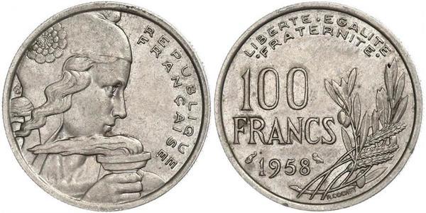 100 Franc French Fourth Republic (1946-1958) Copper/Nickel