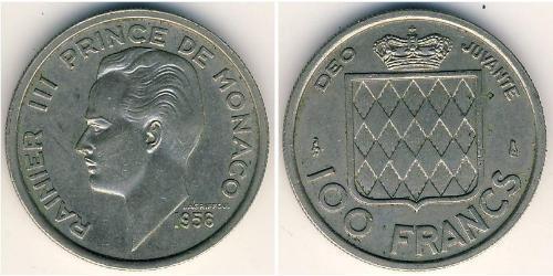 100 Franc Monaco Copper/Nickel