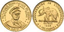 100 Franc Demokratische Republik Kongo Gold