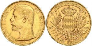 100 Franc Monaco Gold Albert I, Prince of Monaco (1848 - 1922)