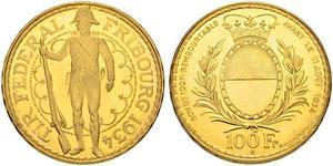 100 Franc Schweiz Gold