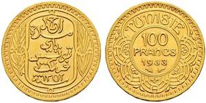 100 Franc Tunisia Gold