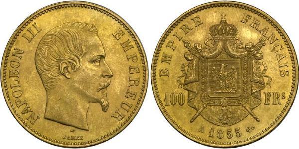100 Franc Zweites Kaiserreich (1852-1870) Gold Napoleon III (1808-1873)