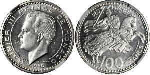 100 Franc Monaco Kupfer/Nickel Rainier III. (Monaco)