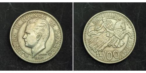 100 Franc Mónaco Níquel/Cobre Raniero III de Mónaco