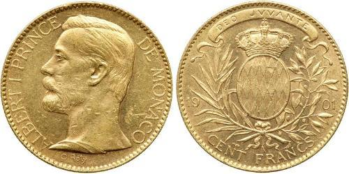 100 Franc Monaco Or Albert I, Prince of Monaco (1848 - 1922)