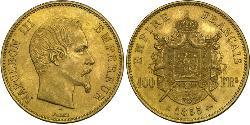100 Franc Second Empire (1852-1870) Or Napoleon III (1808-1873)