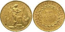 100 Franc French First Republic  (1792-1804) Oro