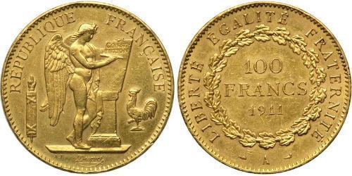 100 Franc Primera República Francesa  (1792-1804) Oro