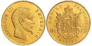 100 Franc Secondo Impero francese (1852-1870) Oro Napoleone III (1808-1873)