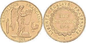 100 Franc Tercera República Francesa (1870-1940)  Oro