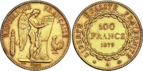 100 Franc Terza Repubblica francese (1870-1940)  Oro