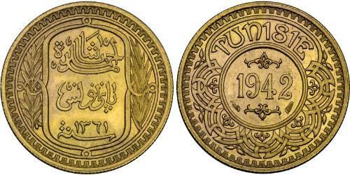 100 Franc Tunisia Oro