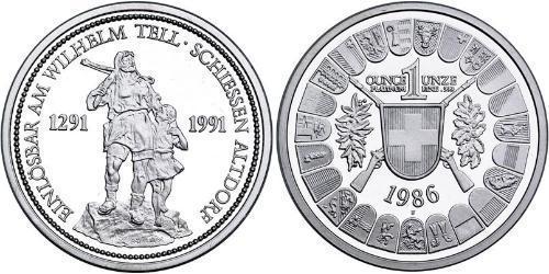 100 Franc Suiza Platino