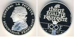 100 Franc French Fifth Republic (1958 - ) Silver